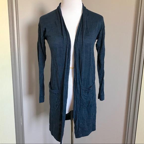Uniqlo Linen Blend Long Cardigan